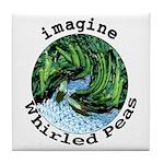 Imagine Whirled Peas Tile Coaster