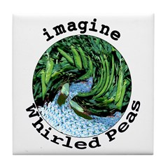 Imagine Whirled Peas Tile Coaster