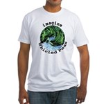 Imagine Whirled Peas Fitted T-Shirt