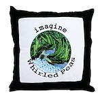 Imagine Whirled Peas Throw Pillow