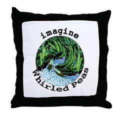 Imagine Whirled Peas Throw Pillow