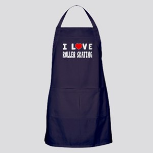 I Love Roller Skating Apron (dark)