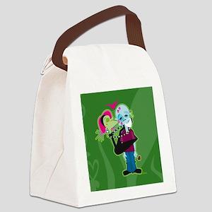 Zombie Valentine Canvas Lunch Bag