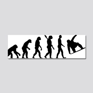 Evolution Snowboard Car Magnet 10 x 3