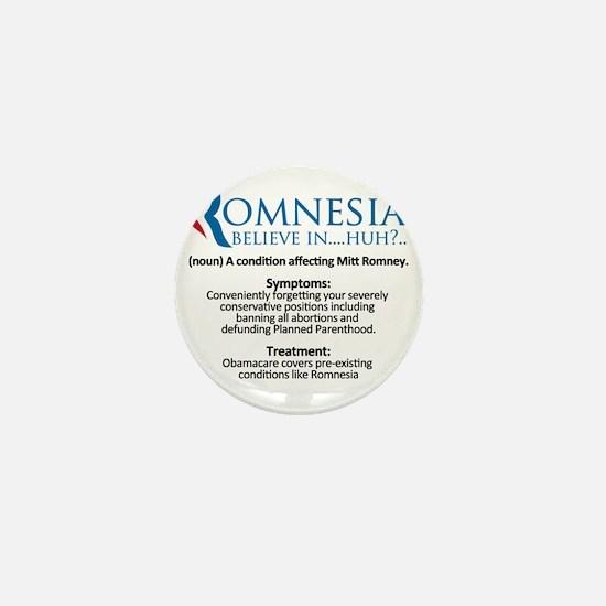 definition of romnesia mitt romney Mini Button