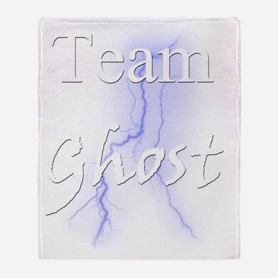 Team Ghost for Dark Shirt Throw Blanket
