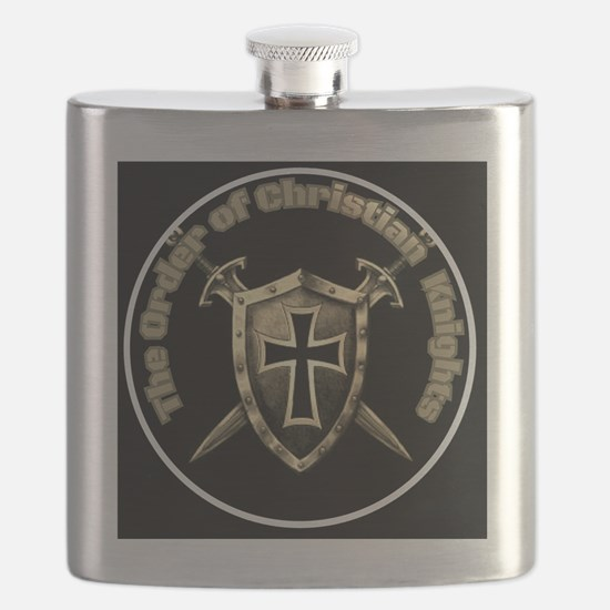 The Order of Christian Knights (Official Log Flask
