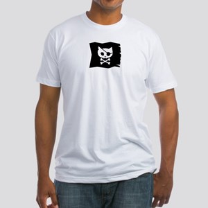 Pirate Kitty Jolly Roger Flag Men's Fitted T-Shirt