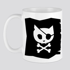 Pirate Kitty Jolly Roger Flag Mug