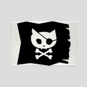 Pirate Kitty Jolly Roger Flag Magnet