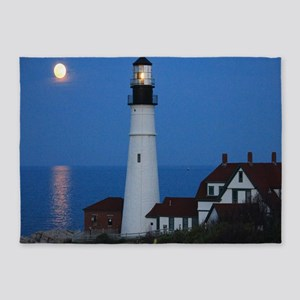 Super Moons Lighthouse View 5'x7'Area Rug