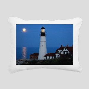 Super Moons Lighthouse V Rectangular Canvas Pillow