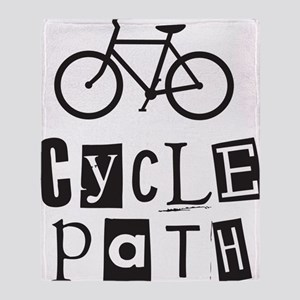 Cycle Path Throw Blanket