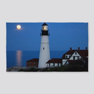 Super Moons Lighthouse View 3'x5' Area Rug