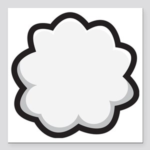 "Bunny Tail Square Car Magnet 3"" x 3"""