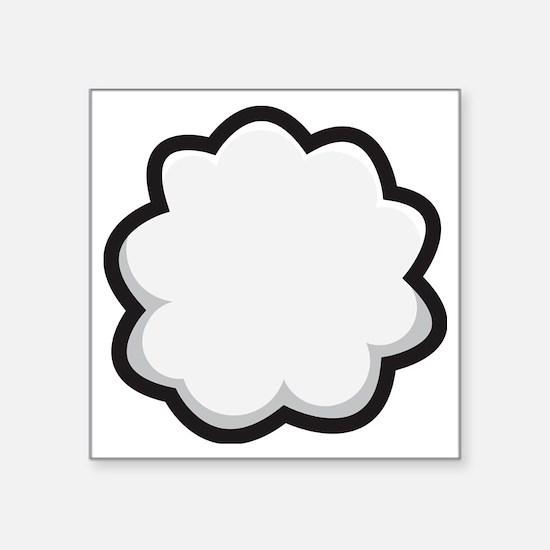 "Bunny Tail Square Sticker 3"" x 3"""