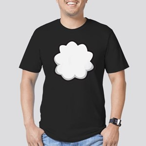 Bunny Tail Men's Fitted T-Shirt (dark)