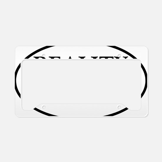 liberalbiasoval License Plate Holder
