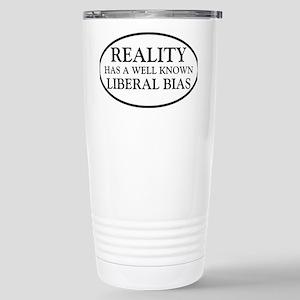 liberalbiasoval Stainless Steel Travel Mug