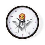 PHA Eye & S&C Masonic Wall Clock