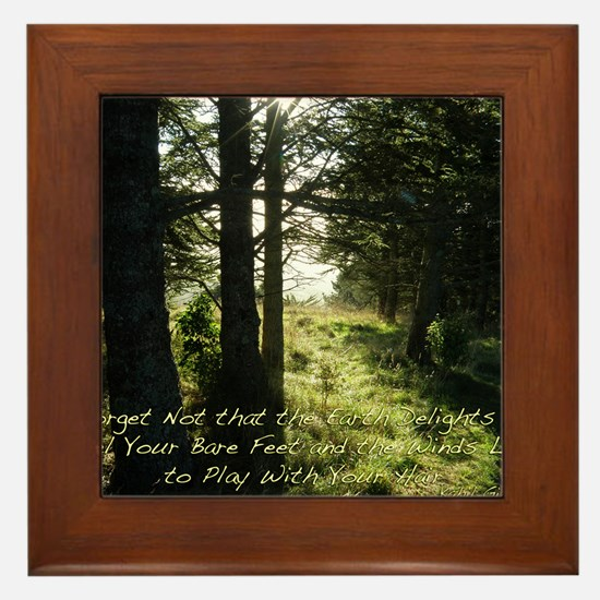 The Earth Delights in You Framed Tile