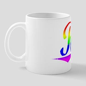 Drew, Rainbow, Mug