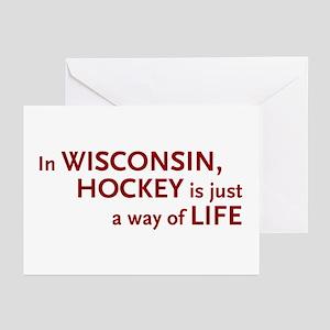 Wisconsin Hockey Greeting Cards (Pk of 10)