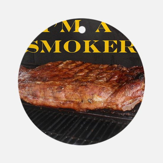 Smoked Ribs Round Ornament