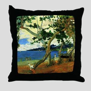 Paul Gauguin Beach Scene Throw Pillow