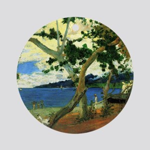 Paul Gauguin Beach Scene Round Ornament