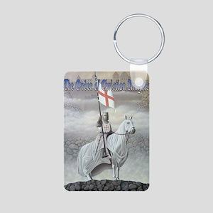 Christian Knight on Horse Aluminum Photo Keychain