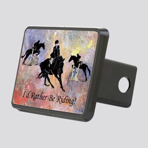 Id Rather Be Riding! Horse Rectangular Hitch Cover