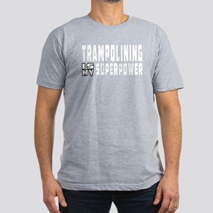 Trampolining Is My Superpower Men's Fitted T-Shirt