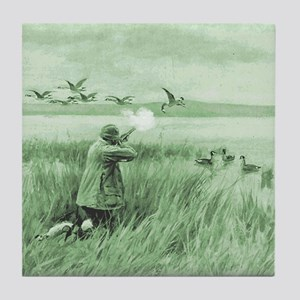 Hunting Wild Geese Tile Coaster