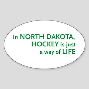 North Dakota Hockey Oval Sticker
