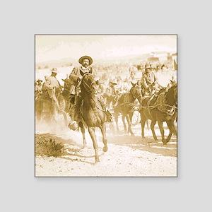 "Pancho Villa Rides Square Sticker 3"" x 3"""