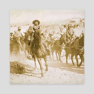 Pancho Villa Rides Queen Duvet