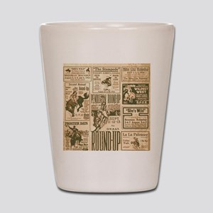 Vintage Rodeo Round-Up Shot Glass