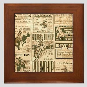 Vintage Rodeo Round-Up Framed Tile