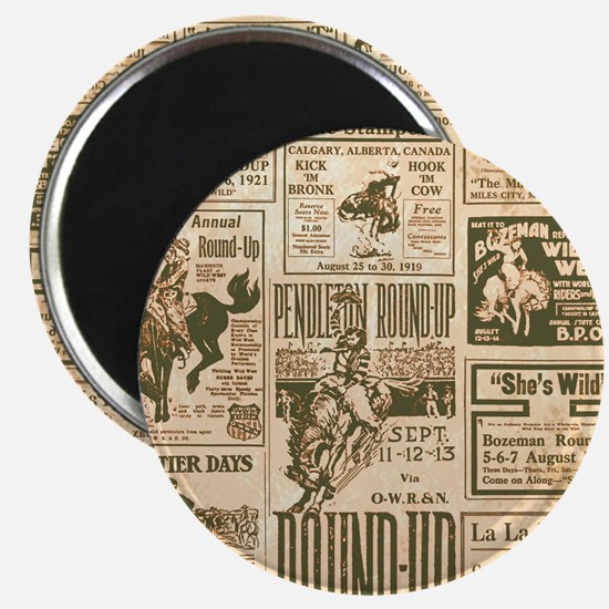 Vintage Rodeo Round-Up Magnet
