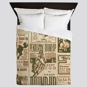 Vintage Rodeo Round-Up Queen Duvet