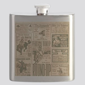 Vintage Rodeo Round-Up Flask