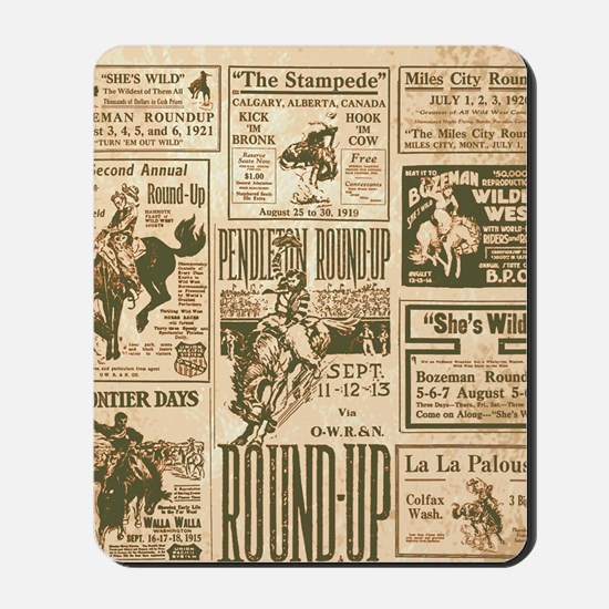 Vintage Rodeo Round-Up Mousepad