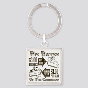 Pie Rates of the Caribbean Square Keychain