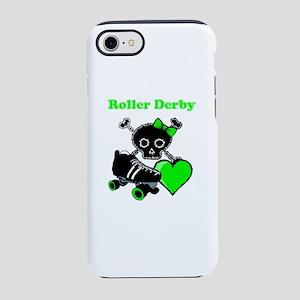 Roller Derby Heart (Green) iPhone 7 Tough Case
