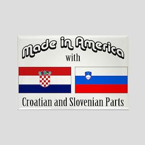 Croatian-Slovenian Rectangle Magnet