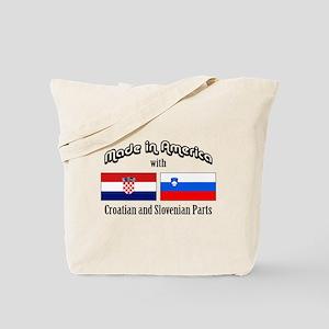 Croatian-Slovenian Tote Bag