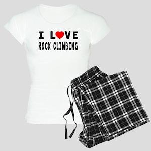 I Love Rock Climbing Women's Light Pajamas