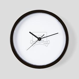mixtape and bones Wall Clock