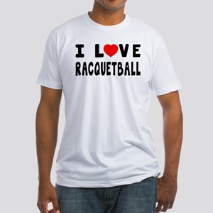 I Love Recquetball Fitted T-Shirt